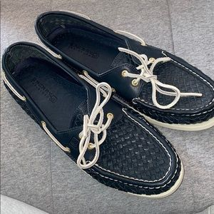 Women's navy blue sperrys size 12